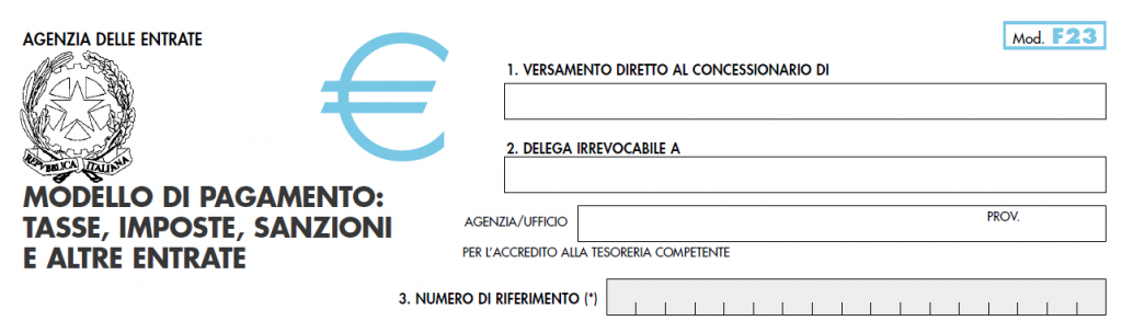 Contributo Unificato Telematico pagamento con modello F23