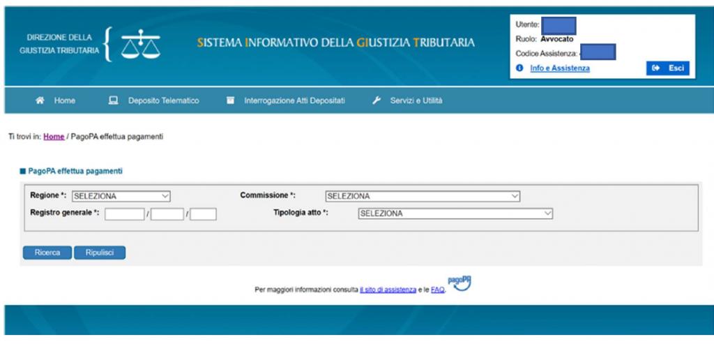 Contributo Unificato Telematico PagoPA